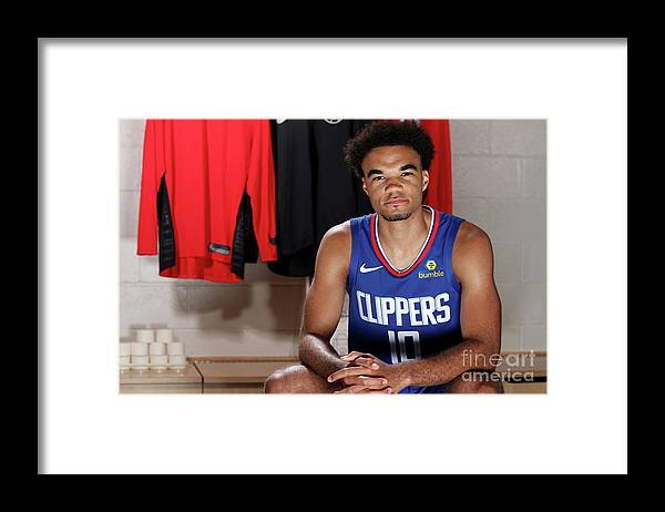 Jerome Robinson Framed Print featuring the photograph 2018 Nba Rookie Photo Shoot by Nathaniel S. Butler