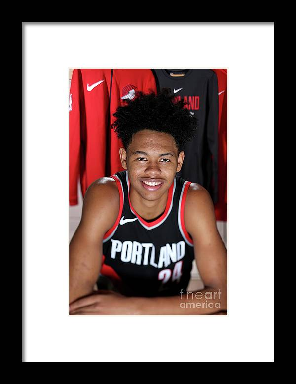 Nba Pro Basketball Framed Print featuring the photograph 2018 Nba Rookie Photo Shoot by Nathaniel S. Butler