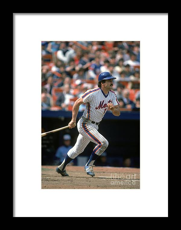 1980-1989 Framed Print featuring the photograph Mlb Photos Archive 97 by Rich Pilling