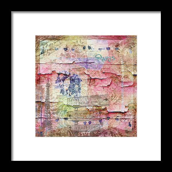 Eiffel Tower Art Framed Print featuring the mixed media A City Besieged by Paula Ayers