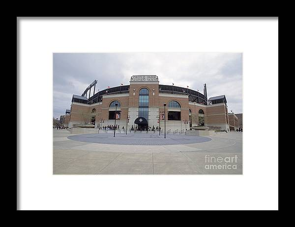American League Baseball Framed Print featuring the photograph A General View Of Oriole Park At Camden by Doug Pensinger