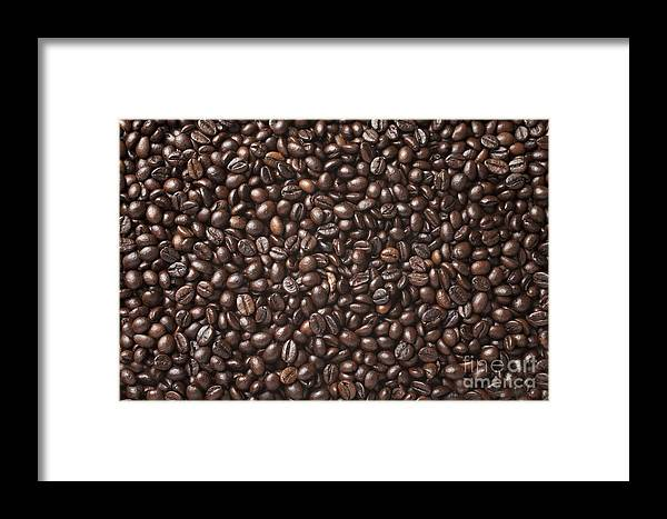 Heat Framed Print featuring the photograph A Lot Of Roasted Coffee Beans Which by Wait For