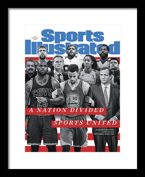 Magazine Cover Framed Print featuring the photograph A Nation Divided, Sports United Sports Illustrated Cover by Sports Illustrated