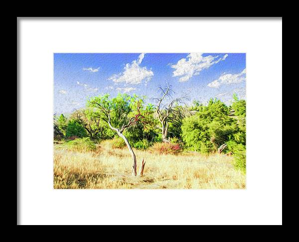Outdoors Framed Print featuring the digital art A Place Of Serenity IIi by Kenneth Montgomery