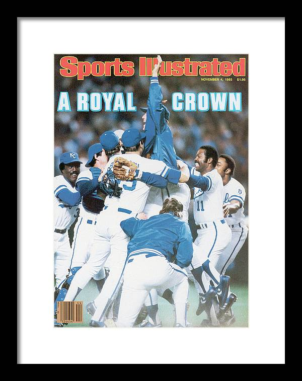 St. Louis Cardinals Framed Print featuring the photograph A Royal Crown 1985 World Series Sports Illustrated Cover by Sports Illustrated
