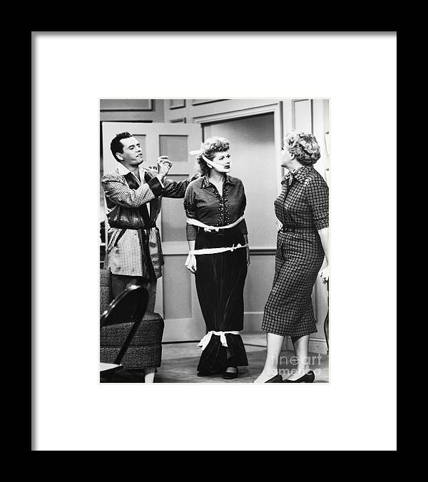 Musical Conductor Framed Print featuring the photograph A Scene From I Love Lucy by Bettmann