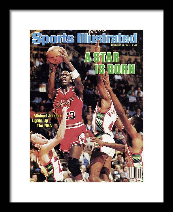 Chicago Bulls Framed Print featuring the photograph A Star Is Born Michael Jordan Lights Up The Nba Sports Illustrated Cover by Sports Illustrated
