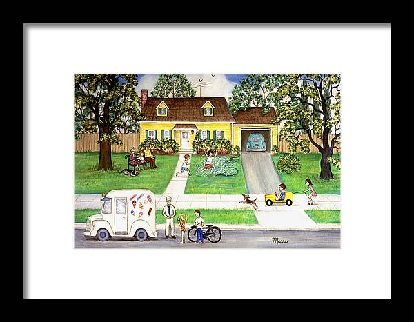 Landscape Framed Print featuring the painting A Summer Day by Linda Mears