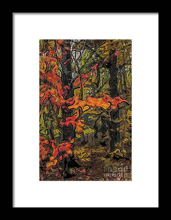 Forest Framed Print featuring the painting A Time In The Woods by C L Lassila