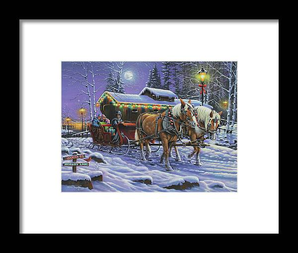 A Trot Down Memory Lane Framed Print featuring the painting A Trot Down Memory Lane by Geno Peoples