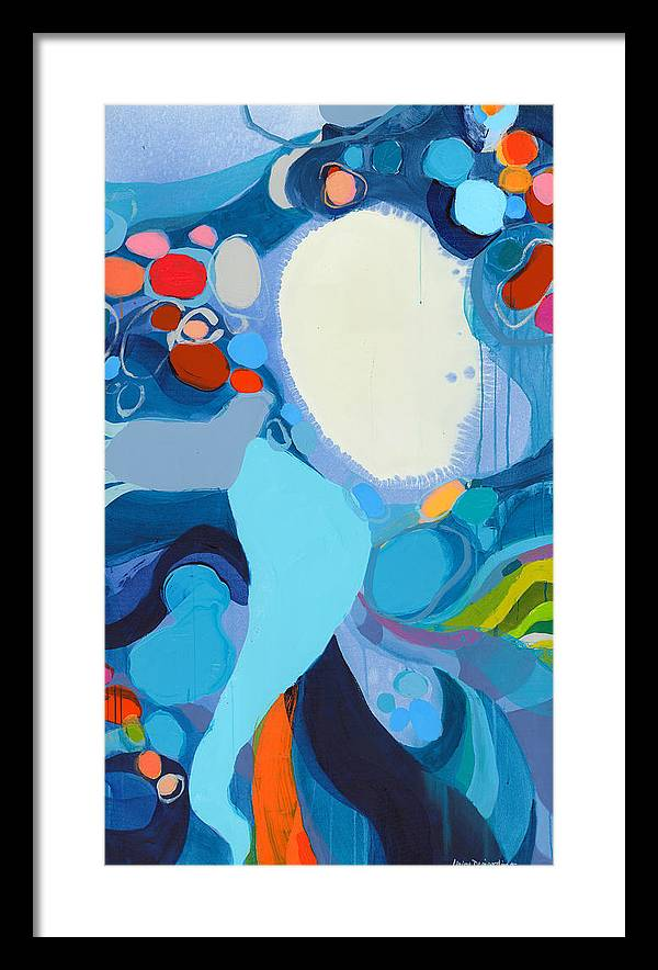 Abstract Framed Print featuring the painting A Woman Named Emory by Claire Desjardins