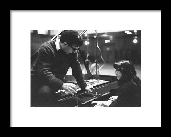 Musical Conductor Framed Print featuring the photograph Abbado On Piano by Erich Auerbach
