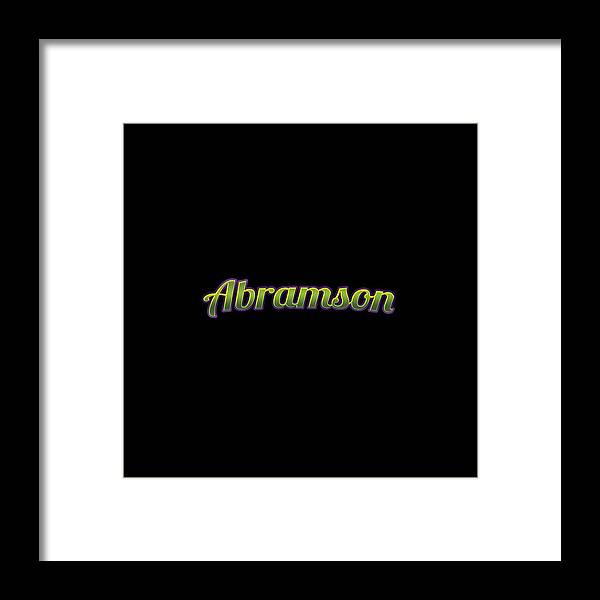 Abramson Framed Print featuring the digital art Abramson #abramson by TintoDesigns