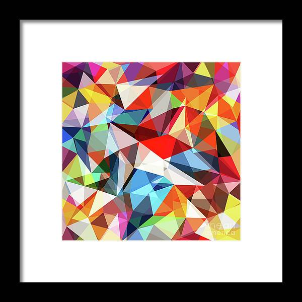 Art Framed Print featuring the digital art Abstract Colorful Geometrical Background by Natrot