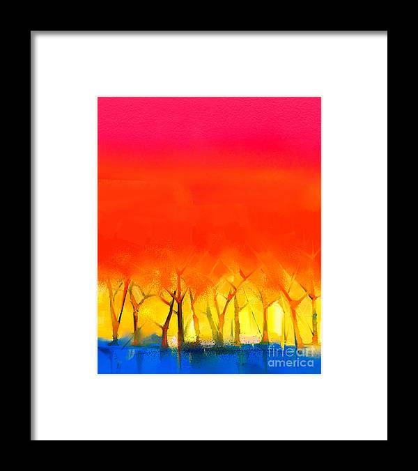 Paint Framed Print featuring the digital art Abstract Colorful Oil Painting by Pluie r