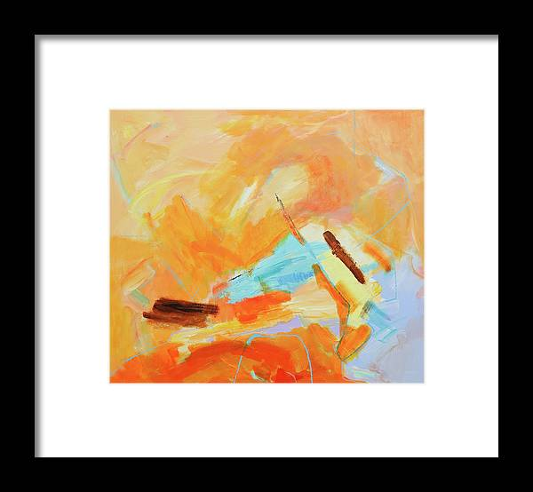 Oil Painting Framed Print featuring the digital art Abstract Oil Painting by Balticboy