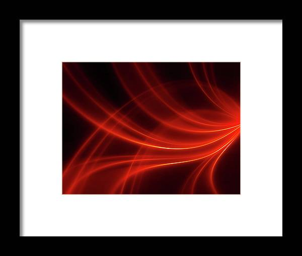 Three Dimensional Framed Print featuring the photograph Abstract Red Dynamic Lines Backgrounds by Hh5800