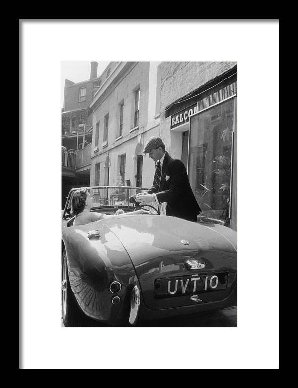 People Framed Print featuring the photograph Ac Sports Car by Slim Aarons