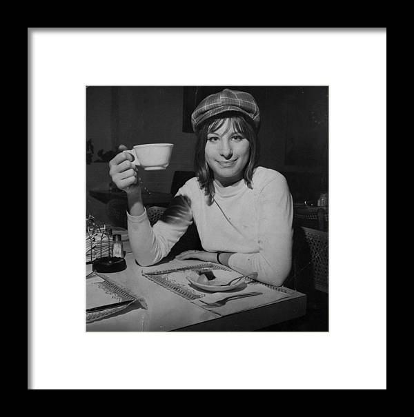 Singer Framed Print featuring the photograph Actress And Singer Barbra Streisand by New York Daily News Archive