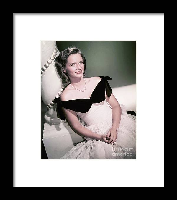 People Framed Print featuring the photograph Actress Debbie Reynolds by Bettmann