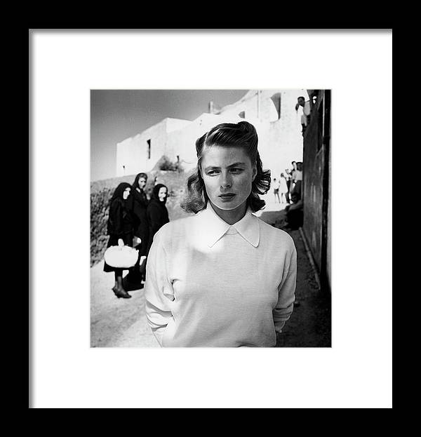 Timeincown Framed Print featuring the photograph Actress Ingrid Bergman Attracting by Gordon Parks