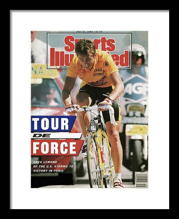 Magazine Cover Framed Print featuring the photograph Adr Agrigel Greg Lemond, 1989 Tour De France Sports Illustrated Cover by Sports Illustrated