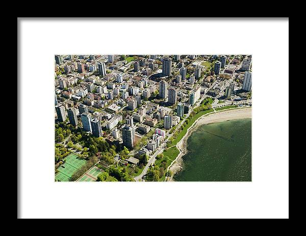 Outdoors Framed Print featuring the photograph Aerial Of West End, Vancouver by Lucidio Studio, Inc.