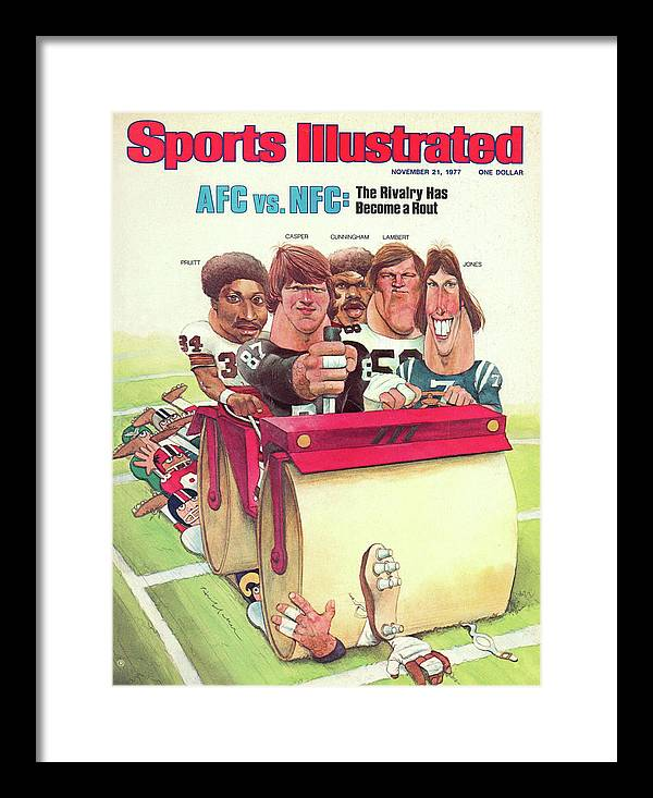 Magazine Cover Framed Print featuring the photograph Afc Vs Nfc The Rivalry Has Become A Rout Sports Illustrated Cover by Sports Illustrated