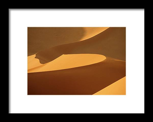 Shadow Framed Print featuring the photograph Africa, Namibia, Sand Dunes, Full Frame by Peter Adams