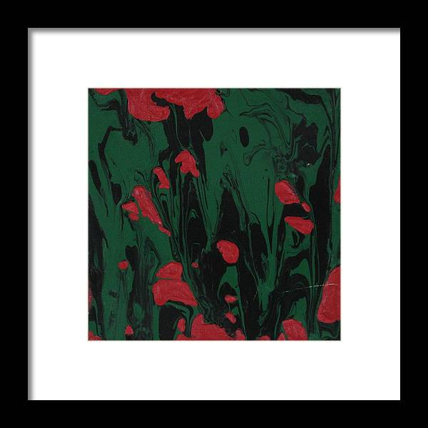 Abstract Framed Print featuring the painting African Glory by Sonye Locksmith