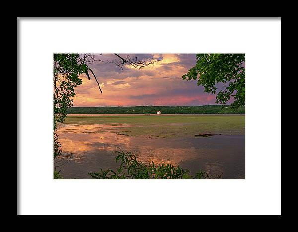Esopus Lighthouse Framed Print featuring the photograph After A June Thunderstorm II by Jeff Severson