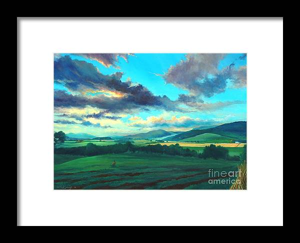 Scotish Framed Print featuring the painting After The Storm by Ashley Jennings