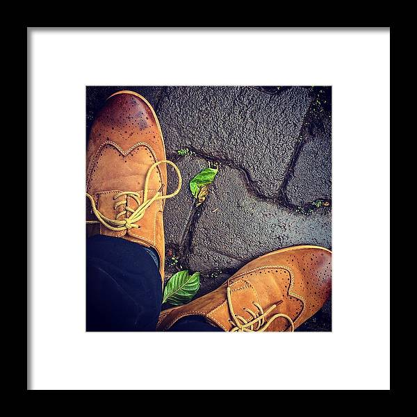 Shoes Framed Print featuring the photograph Afternoon delight by Mark Ddamulira
