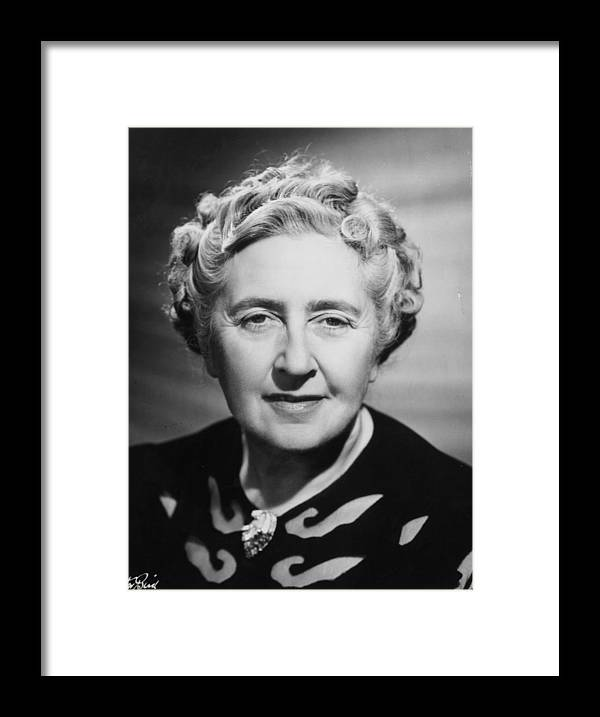 People Framed Print featuring the photograph Agatha Christie by Walter Bird