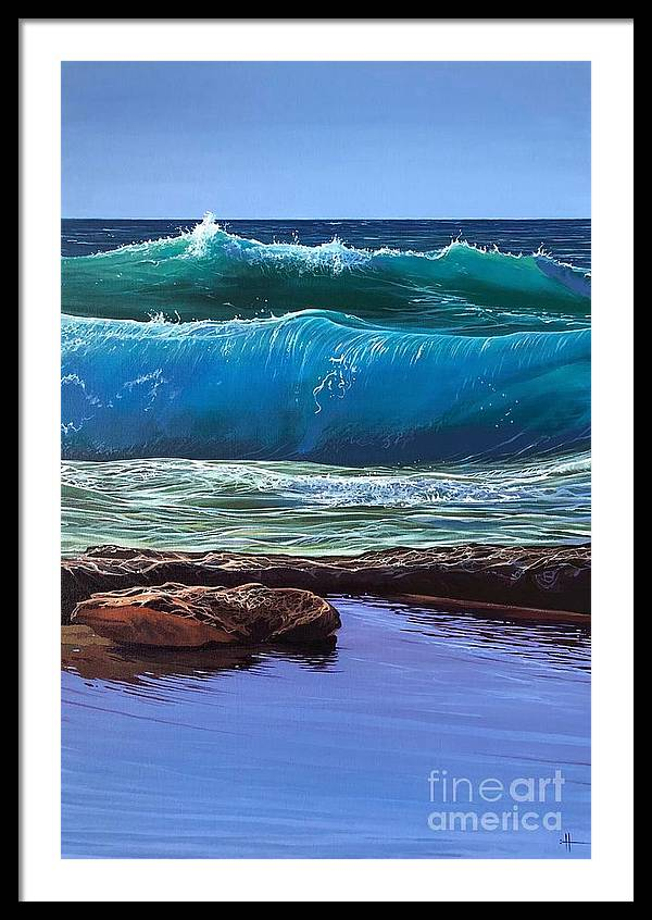 Puerto Vallarta Framed Print featuring the painting Aguas de Marco by Hunter Jay