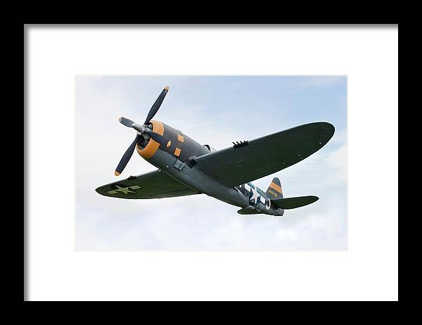 Air Attack Framed Print featuring the photograph Airplane P-47 Thunderbolt From World by Okrad