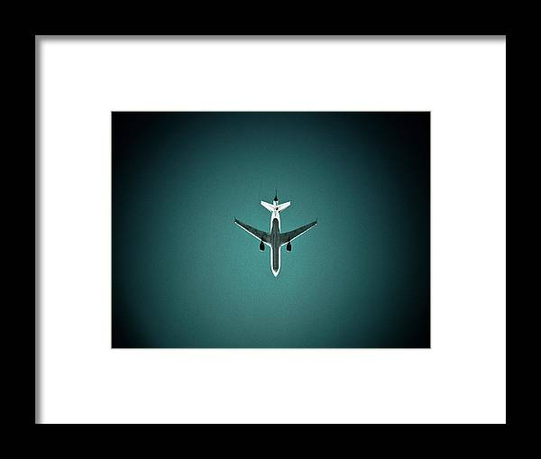 Outdoors Framed Print featuring the photograph Airplane Silhouette by Miikka S Luotio