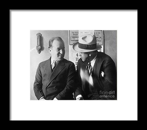 People Framed Print featuring the photograph Al Capone And Benjamin Epstein by Bettmann