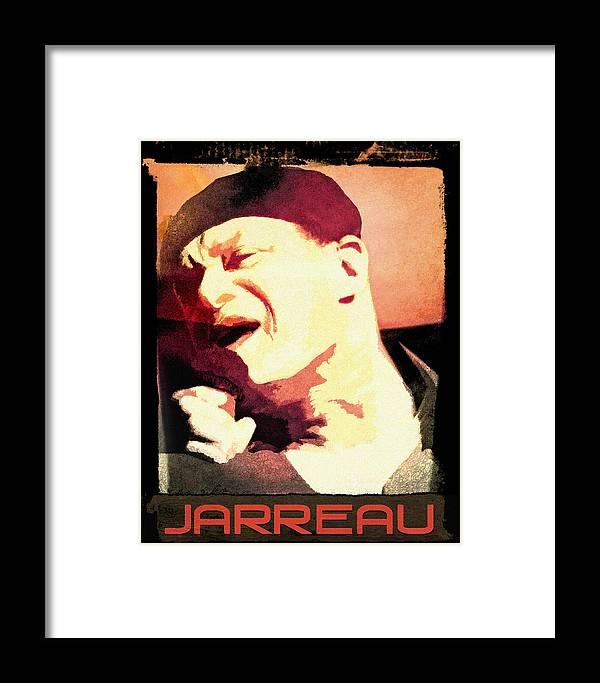Framed Print featuring the digital art Al Jarreau by Regina Wyatt