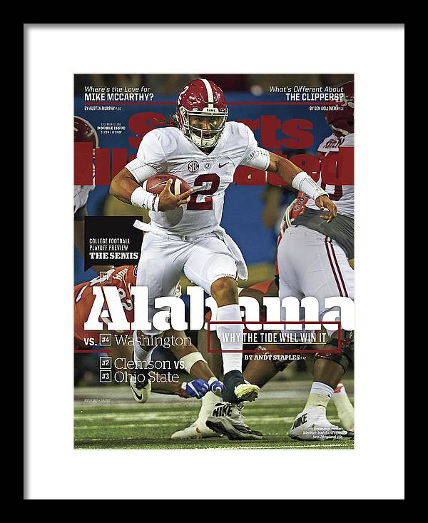 Atlanta Framed Print featuring the photograph Alabama Why The Tide Will Win It, 2016 College Football Sports Illustrated Cover by Sports Illustrated