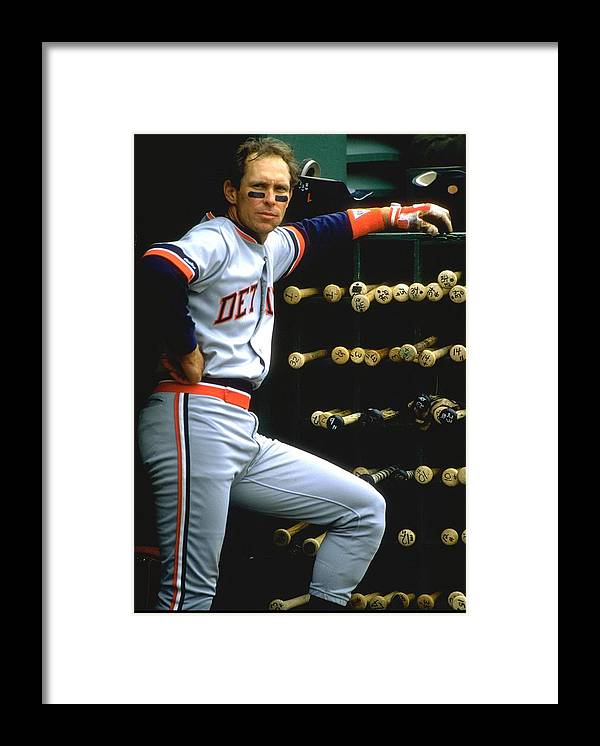 1980-1989 Framed Print featuring the photograph Alan Trammell Tigers by Otto Greule Jr