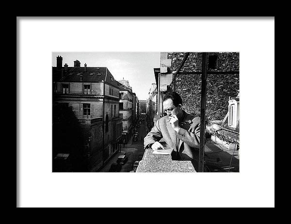 Timeincown Framed Print featuring the photograph Albert Camus by Loomis Dean