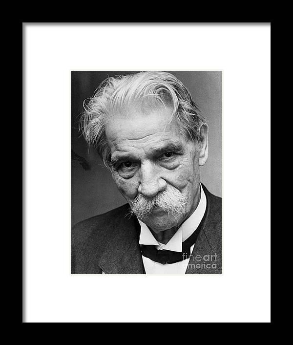 Copenhagen Framed Print featuring the photograph Albert Schweitzer by Bettmann