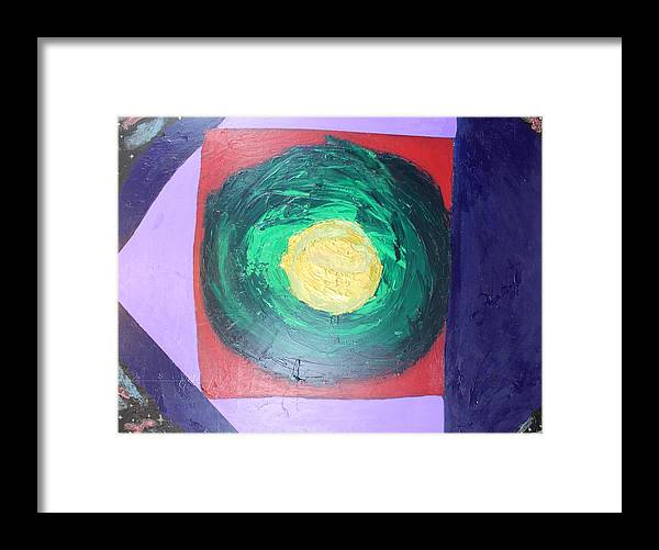 Abstract Framed Print featuring the painting Alchemy of the Soul by Sonye Locksmith