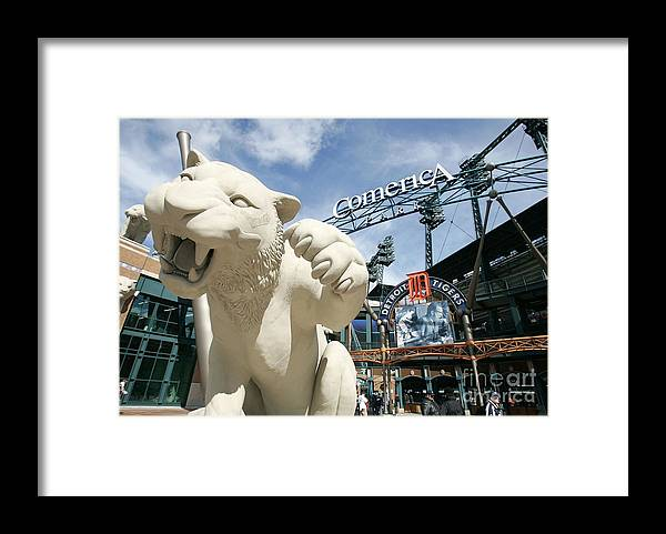 Playoffs Framed Print featuring the photograph Alcs Game 4 Oakland As V Detroit Tigers by Jonathan Daniel