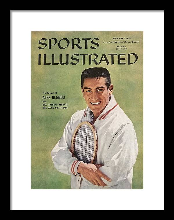 Magazine Cover Framed Print featuring the photograph Alex Olmedo, Tennis Sports Illustrated Cover by Sports Illustrated