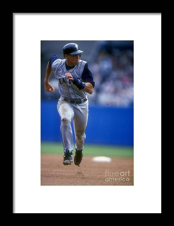 People Framed Print featuring the photograph Alex Rodriguez 3 by Al Bello