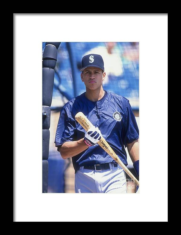 People Framed Print featuring the photograph Alex Rodriguez 3 by Jonathan Daniel