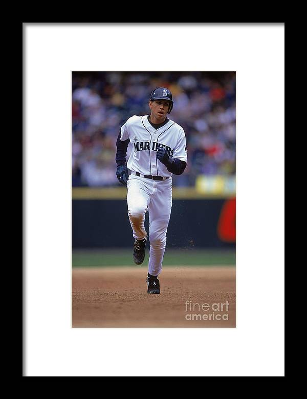 People Framed Print featuring the photograph Alex Rodriguez 3 by Otto Greule Jr