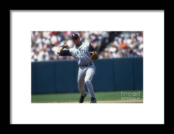 People Framed Print featuring the photograph Alex Rodriguez by Doug Pensinger